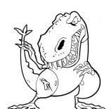 T-Rex, Cartoon Of T Rex Coloring Page: Cartoon of T Rex Coloring Page