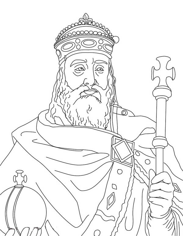 Charlemagne In Middle Ages Coloring Page Color Luna