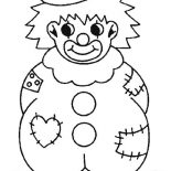Clown, Clown Wearing Raggery Clothes Coloring Page: Clown Wearing Raggery Clothes Coloring Page