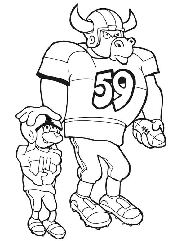 NFL, : Club Maskot in NFL Coloring Page
