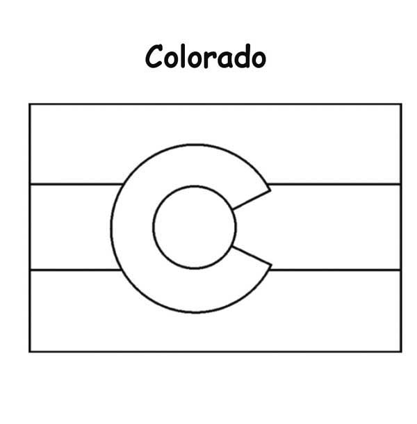 State Flag, : Colorado State Flag Coloring Page
