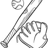 MLB, Complete Baseball Gears In MLB Coloring Page: Complete Baseball Gears in MLB Coloring Page