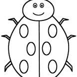 Lady Bug, Creepy Lady Bug Coloring Page: Creepy Lady Bug Coloring Page