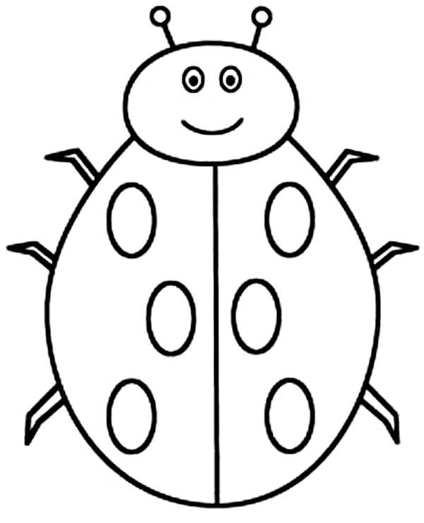 Lady Bug, : Creepy Lady Bug Coloring Page