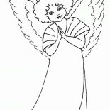 Angels, Curly Hair Angels Coloring Page: Curly Hair Angels Coloring Page