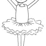 Ballerina, Cute Ballerina Girl Coloring Page: Cute Ballerina Girl Coloring Page