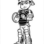 MLB, Cute Catcher In MLB Coloring Page: Cute Catcher in MLB Coloring Page