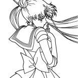 Sailor Moon, Cute Tsukino Usagi Sailor Moon Coloring Page: Cute Tsukino Usagi Sailor Moon Coloring Page