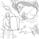 Moses, Depiction Of Moses Coloring Page: Depiction of Moses Coloring Page