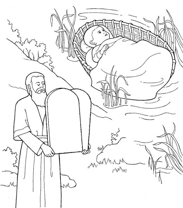 Moses, Depiction of Moses Coloring Page: Depiction Of Moses Coloring PageFull Size Image