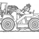 Digger, Digger Coloring Page For Kids: Digger Coloring Page for Kids