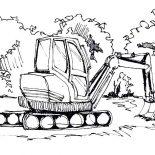 Digger, Digger Digging Ground Coloring Page: Digger Digging Ground Coloring Page