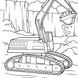 Digger, Digger Tractor Is Digging Coloring Page: Digger Tractor is Digging Coloring Page