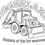 Digger, Digger On Diggerland Coloring Page: Digger on Diggerland Coloring Page