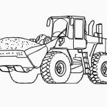 Digger, Dirt Tractor In Digger Coloring Page: Dirt Tractor in Digger Coloring Page
