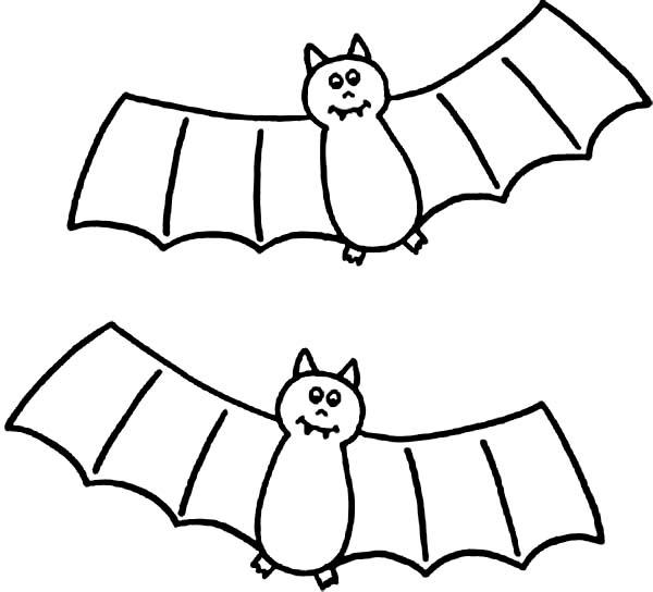 Bats, : Dracula Bats Coloring Page