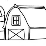 Barn, Drawing Barn Coloring Page: Drawing Barn Coloring Page