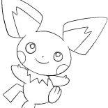 Pichu, Drawing Pichu Coloring Page: Drawing Pichu Coloring Page