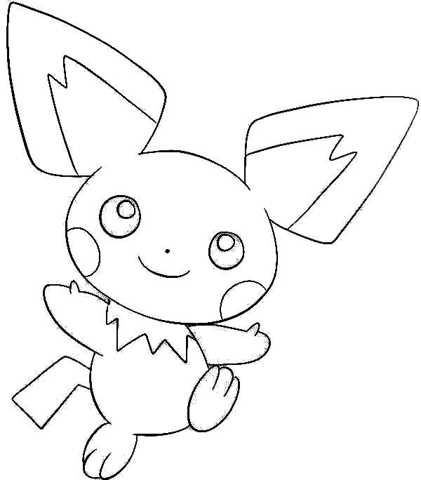 Pichu, : Drawing Pichu Coloring Page
