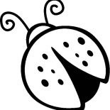 Lady Bug, Drawing Of Lady Bug Coloring Page: Drawing of Lady Bug Coloring Page