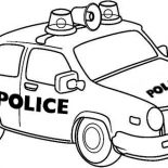Police Car, Drawing Of Police Car Coloring Page: Drawing of Police Car Coloring Page