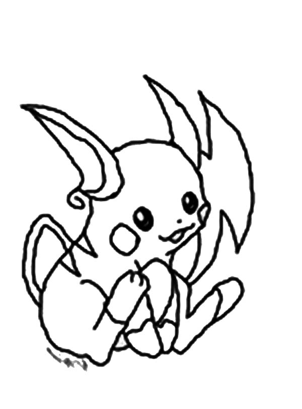 Drawing Of Raichu Coloring Page