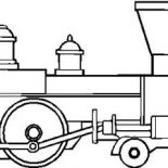 Trains, Drawing Of Steam Train Locomotive Coloring Page: Drawing of Steam Train Locomotive Coloring Page