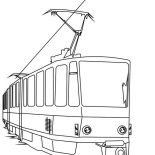 Trains, Electric Train Coloring Page: Electric Train Coloring Page