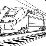Railroad, Electric Train On Railroad Coloring Page: Electric Train on Railroad Coloring Page