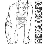 NBA, Emeka Okafor Is NBA Player Coloring Page: Emeka Okafor is NBA Player Coloring Page