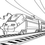Trains, European High Speed Train Coloring Page: European High Speed Train Coloring Page