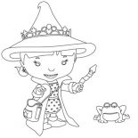 Mike the Knight, Evie From Mike The Knight Coloring Page: Evie from Mike the Knight Coloring Page