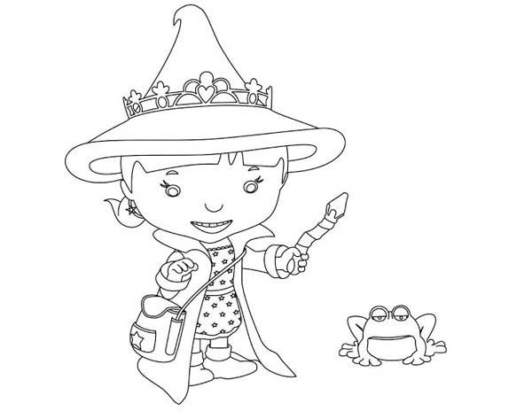 Mike the Knight, : Evie from Mike the Knight Coloring Page