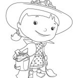 Mike the Knight, Evie Is On Vacation In Mike The Knight Coloring Page: Evie is on Vacation in Mike the Knight Coloring Page