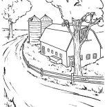 Barn, Farming Barn Coloring Page: Farming Barn Coloring Page
