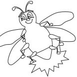 Firefly, Firefly Beautiful Little Light Coloring Page: Firefly Beautiful Little Light Coloring Page