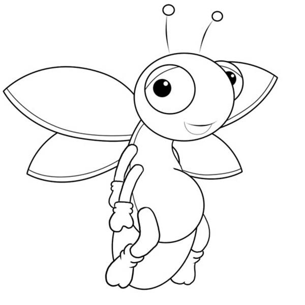 Firefly, : Firefly Cartoon Picture Coloring Page
