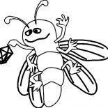 Firefly, Firefly Holding A Lantern Coloring Page: Firefly Holding a Lantern Coloring Page