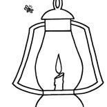 Firefly, Firefly And Lantern Coloring Page: Firefly and Lantern Coloring Page