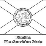 State Flag, Florida State Flag Coloring Page: Florida State Flag Coloring Page
