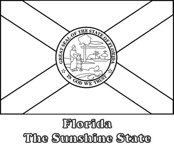 State Flag, : Florida State Flag Coloring Page