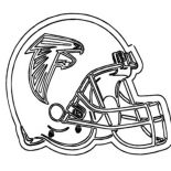 NFL, Football Helmet For NFL Game Coloring Page: Football Helmet for NFL Game Coloring Page