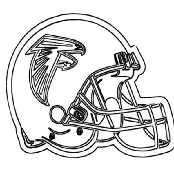 NFL, : Football Helmet for NFL Game Coloring Page