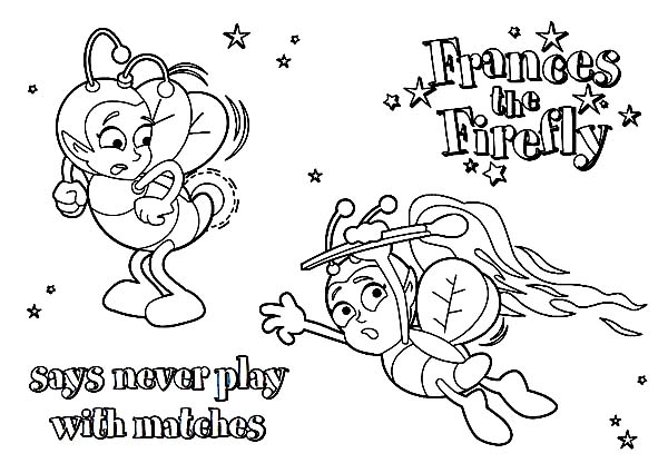 Firefly, : Frances Firefly Coloring Page