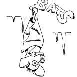 Bats, Funny Bats Coloring Page: Funny Bats Coloring Page