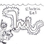 Eel, Funny Picture Of Electric Eel Coloring Page: Funny Picture of Electric Eel Coloring Page