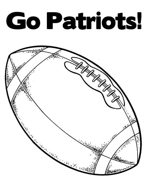 NFL, : Go Patriots in NFL Coloring Page