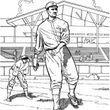 MLB, Great Pitching In MLB Coloring Page: Great Pitching in MLB Coloring Page