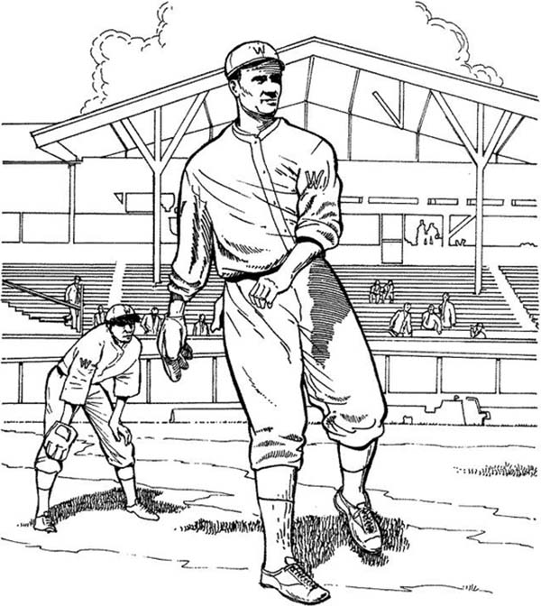 MLB, : Great Pitching in MLB Coloring Page