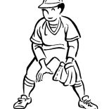 MLB, Great Short Player In MLB Coloring Page: Great Short Player in MLB Coloring Page